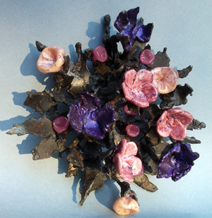 Anemonic Reef welded flowered sculpture