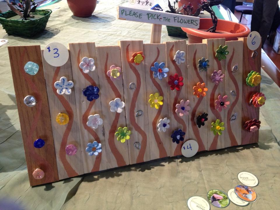 magnet display board at craft show