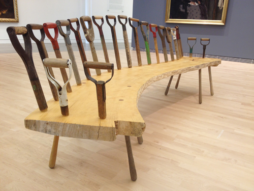 Whimsical bench by Tom Loeser on display at the Museum of Wisconsin Art. I greatly enjoyed having Tom on my Master of Fine Arts committee during my MFA study at UW Madison.