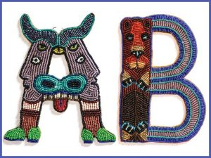 Anne KIngsbury beaded letters